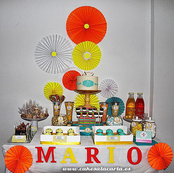 Mesa dulce para comuni n de ni o cakes cupcakes y - Ideas para mesas dulces de comunion ...