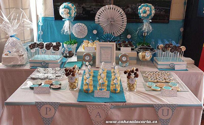 mesas de dulces para primera comunion ni o imagui